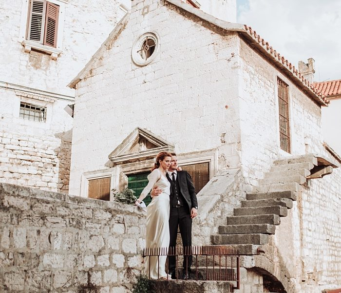 Russian destination wedding in Šibenik, Croatia